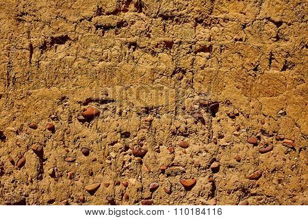 The way of saint James adobe mud walls at Palencia Spain
