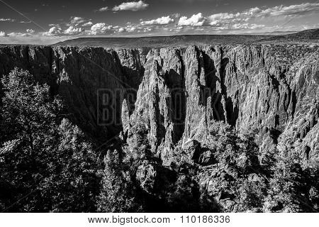 Black Canyon Of The Gunnison National Park Black And White