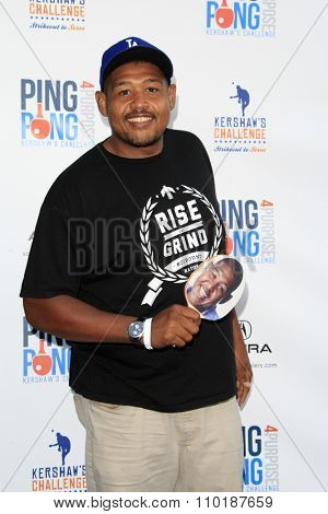 LOS ANGELES - JUL 30:  Omar Miller at the Clayton Kershaw's 3rd Annual Ping Pong 4 Purpose at the Dodger Stadium on July 30, 2015in Los Angeles, CA