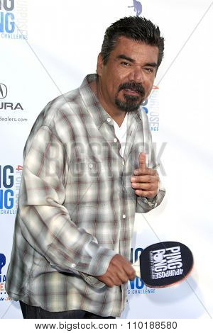 LOS ANGELES - JUL 30:  George Lopez at the Clayton Kershaw's 3rd Annual Ping Pong 4 Purpose at the Dodger Stadium on July 30, 2015in Los Angeles, CA