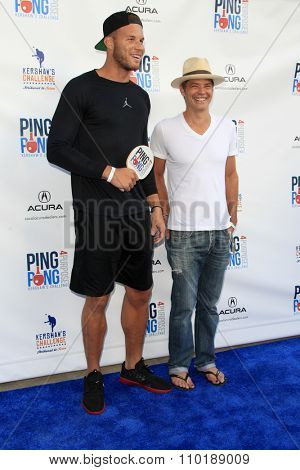 LOS ANGELES - JUL 30:  Blake Griffin at the Clayton Kershaw's 3rd Annual Ping Pong 4 Purpose at the Dodger Stadium on July 30, 2015in Los Angeles, CA