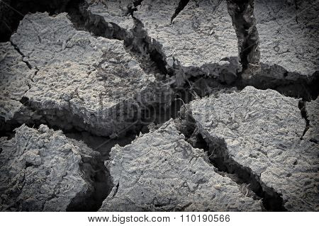 Dry soil cracking