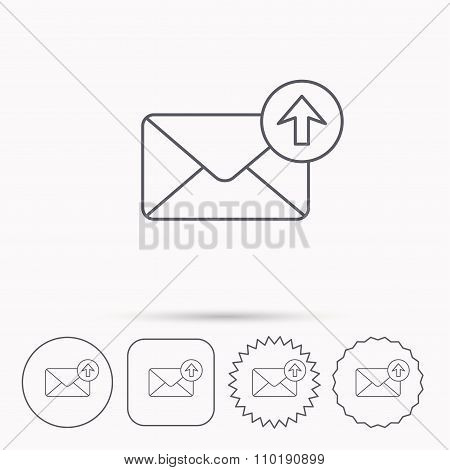 Mail outbox icon. Email message sign.