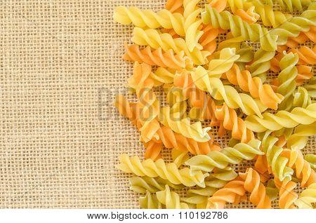 Raw Italian Colorful Pasta.