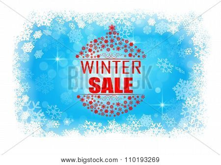 Winter sale abstract background banner