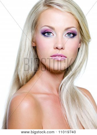 Beautiful Face Of Blond Woman