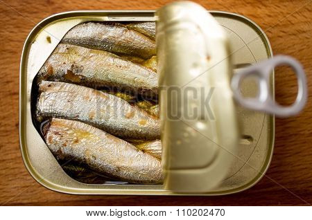 Open Tin Can Of Sprats