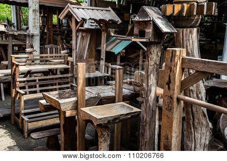 Old wood furniture
