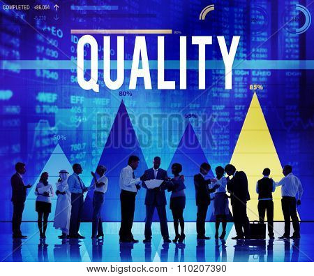 Quality Satisfaction Status Excellence Level Concept