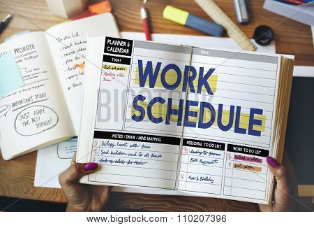 Work Schedule Management Organization Concept
