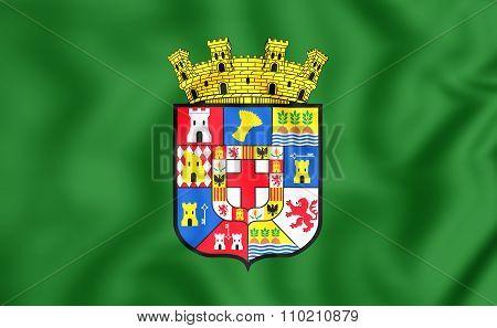 Flag Of Almeria Province, Spain.