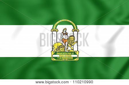 Flag Of Andalusia, Spain.