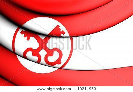 Flag Of Leiden (south Holland), Netherlands.