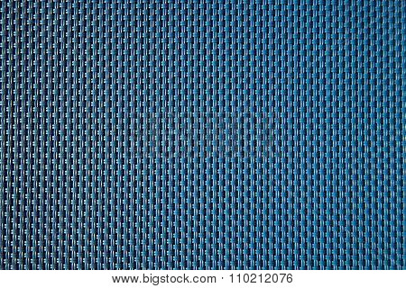Extreme close-up blue weave texture