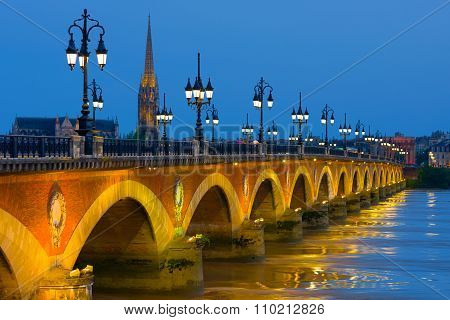 Bordeaux In A Summer Night