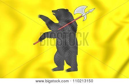 Flag Of Yaroslavl Oblast, Russia.