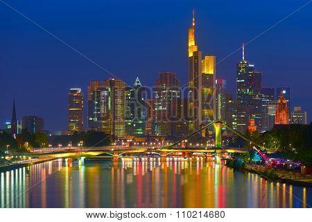 Business District In Frankfurt Am Main