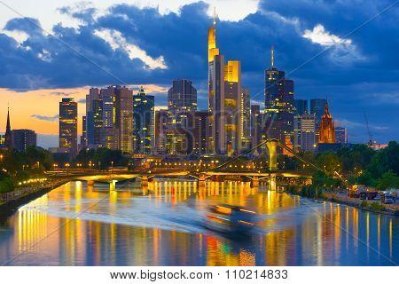 View Of Night Frankfurt