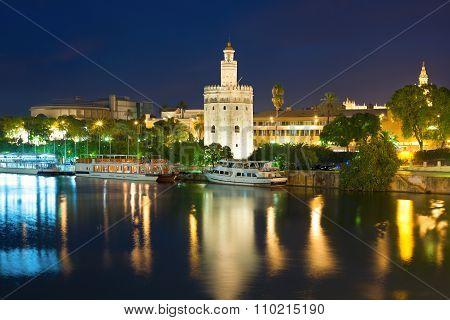 Seville At A Black Summer Night
