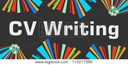 CV Writing Dark Colorful Elements