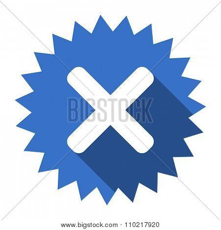 cancel blue flat icon