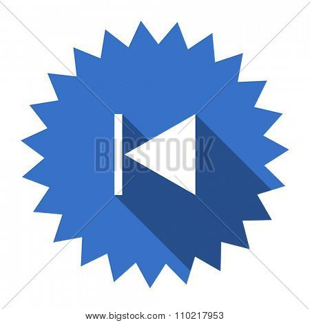 prev blue flat icon