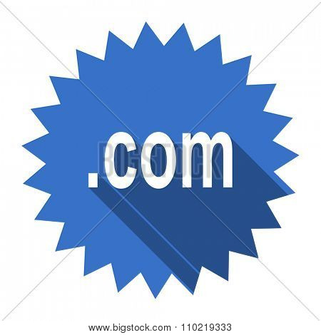com blue flat icon