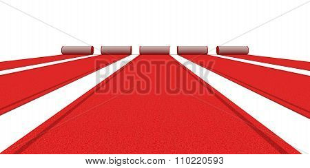 Red Carpets (clipping path included)