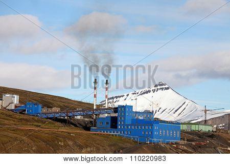 Barentsburg a Russian coal mining village in Svalbard