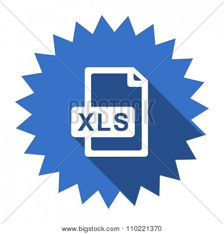 xls file blue flat icon
