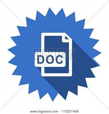 doc file blue flat icon