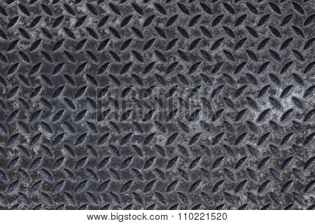 Textured Grunge Metal Tread Background