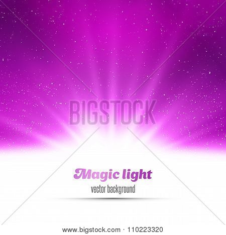 Purple holiday burst abstract magic light background