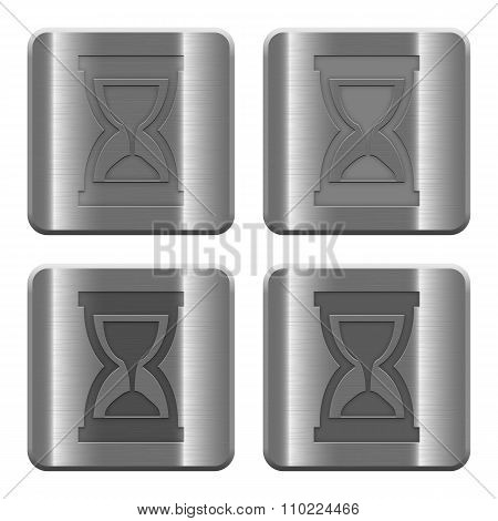 Metal Hourglass Buttons