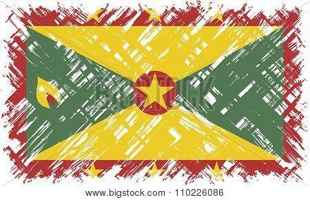 Grenada grunge flag. Vector illustration.