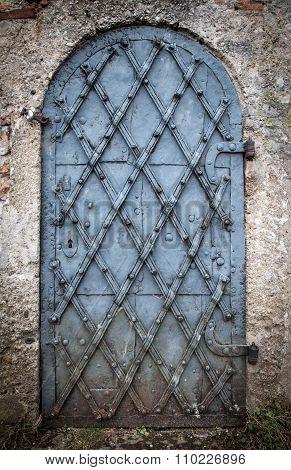 Old metal door Architecture details background
