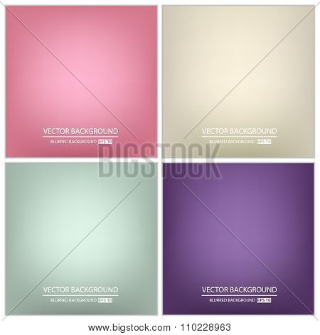 Abstract Creative concept vector multicolored background set. For Web and Mobile Application