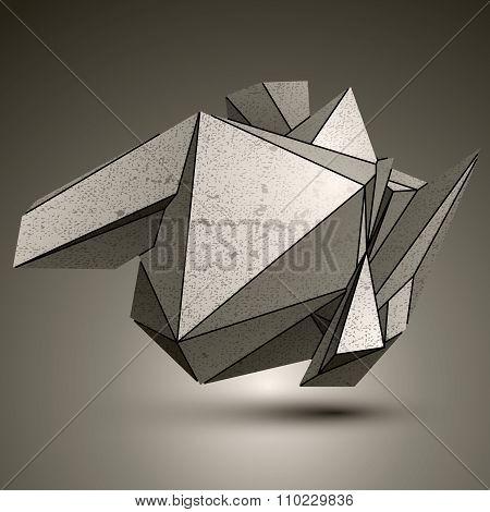 Asymmetric Technical Zink Object, Contrast Cybernetic Spatial Element.