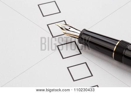 Fountain Pen And Checkbox