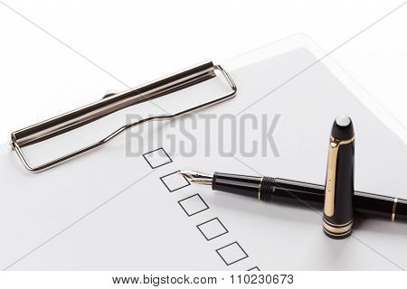 Fountain Pen And Checkbox