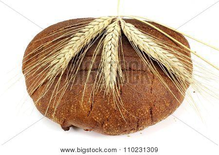 Round Black Rye Bread