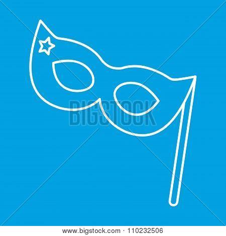Masquerade mask thin line icon