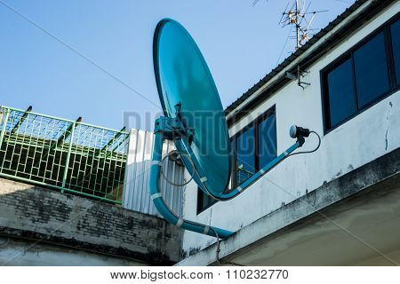 Satellite and Antenna on the roof