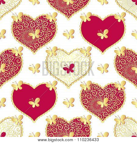 Valentine Seamless White Pattern