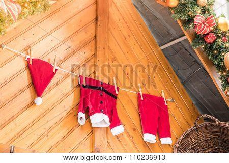 Santa costume Christmas background