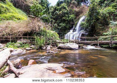 Pha Dok Sie Waterfall In Doi Inthanon National Park, Chiangmai Thailand