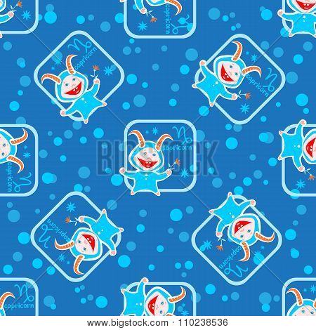 capricorn seamless pattern