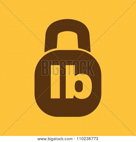 The pound icon. Lb and weight symbol. Flat