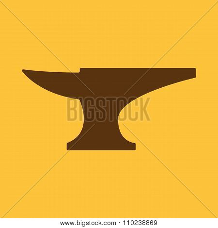 The anvil icon. Smith and forge, blacksmith symbol. Flat
