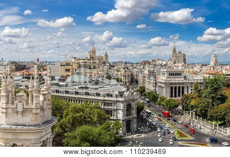 Plaza De Cibeles In Madrid
